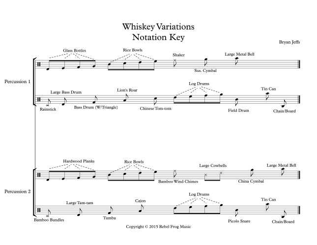 Whiskey Variations Notation Key